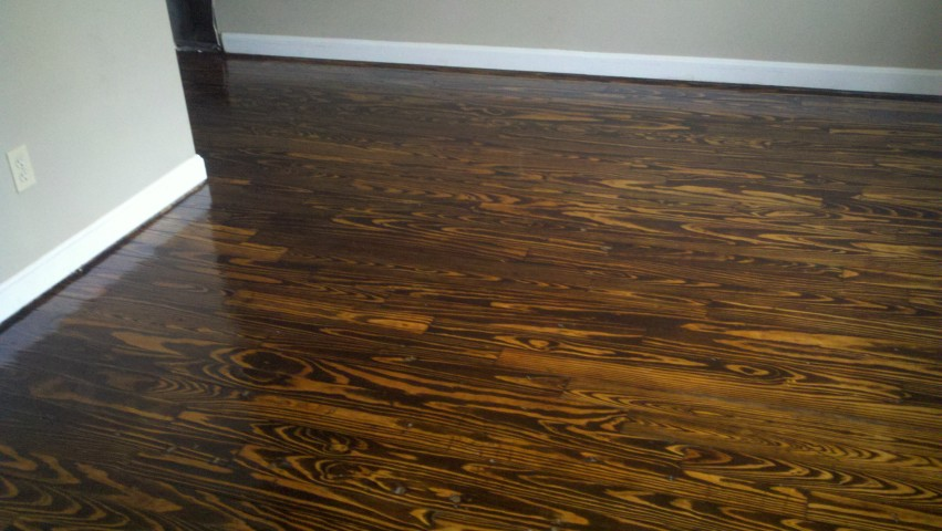a fixed up and shining wood floor