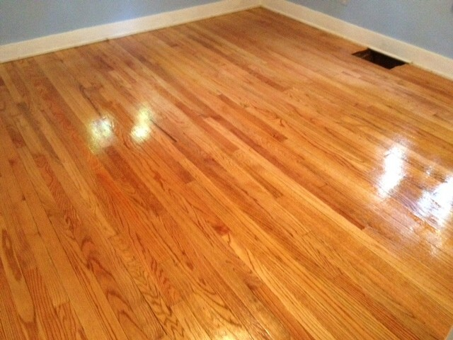 a refinished hardwood floor in the Denver area