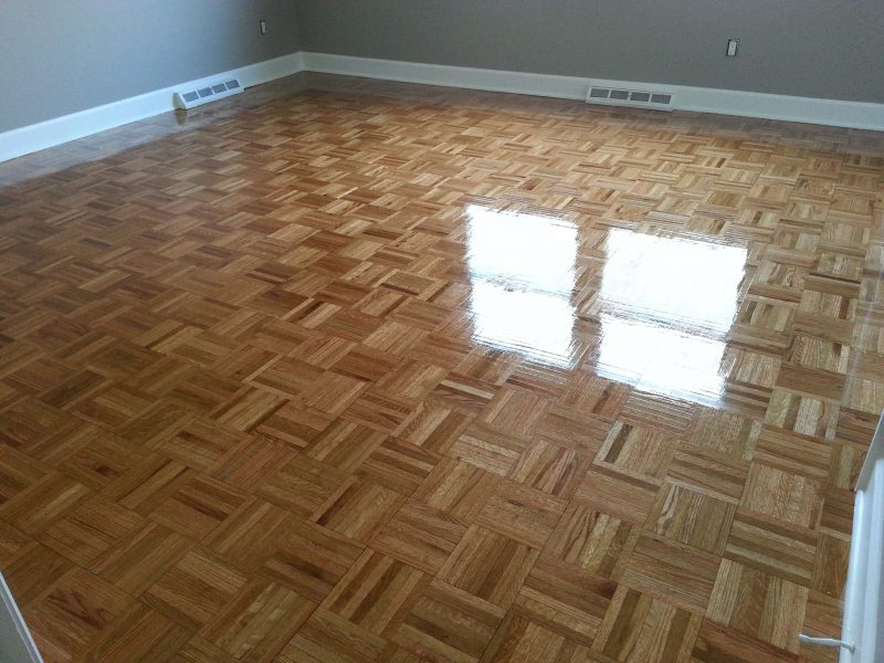 a refinished parquet floor
