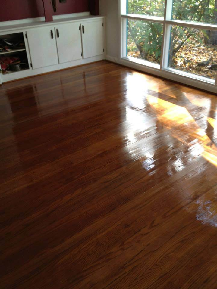 wood floor screen and coat in denver