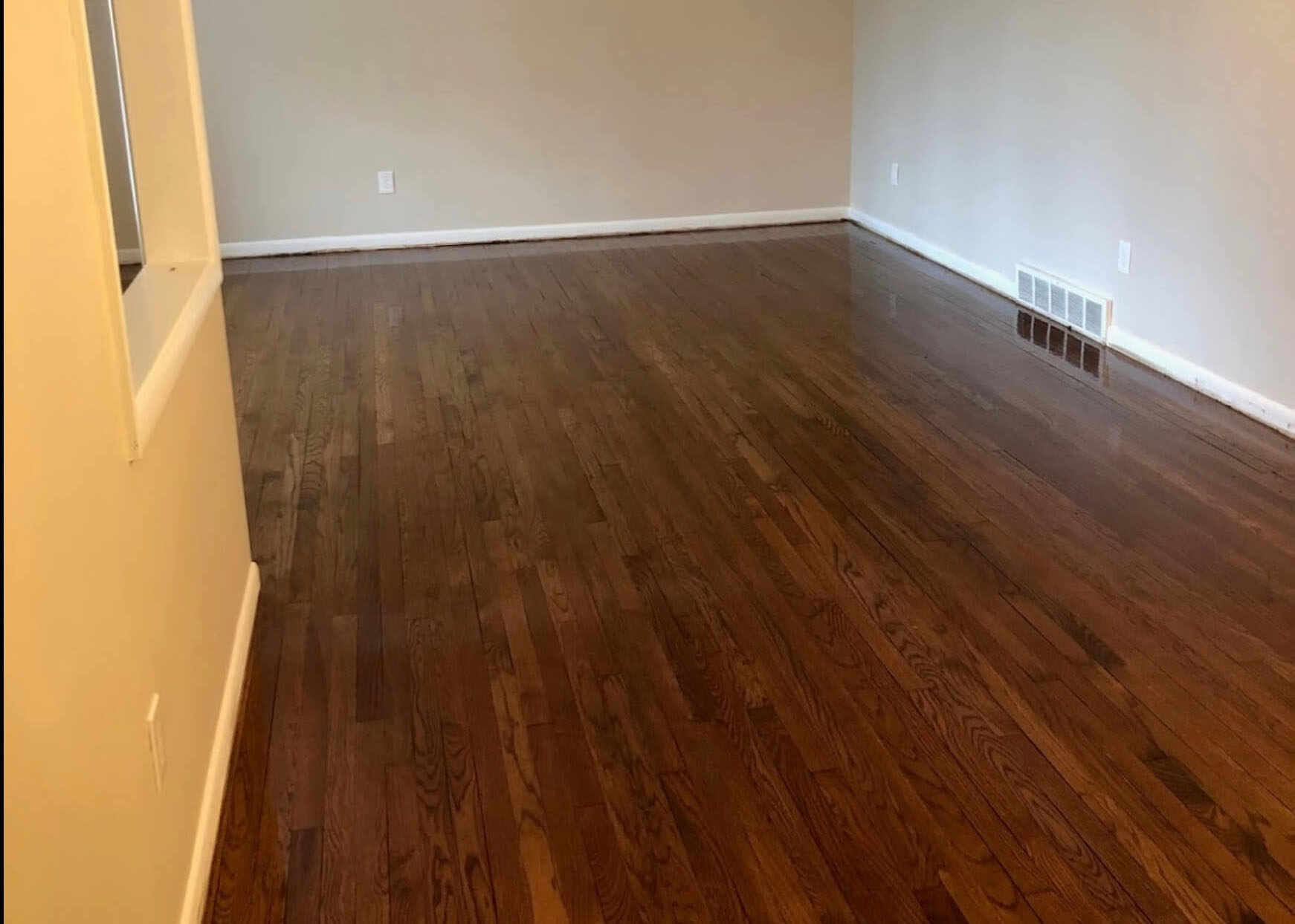 a resurfaced hardwood floor in denver, co
