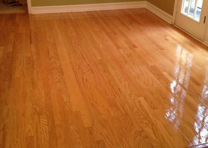 An after shot of one of our hardwood floor refinishing projects in Thornton