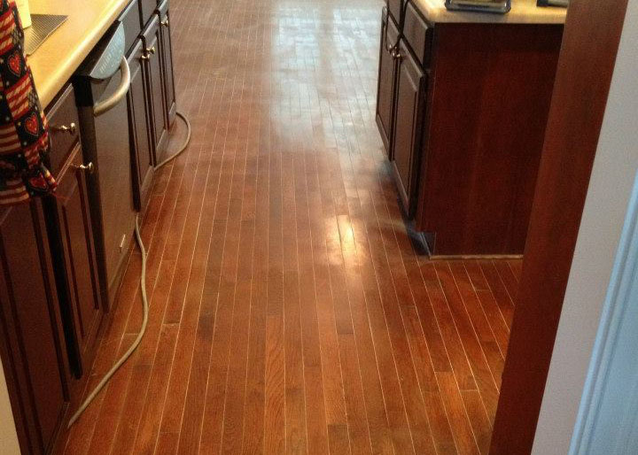 before hardwood floor refinishing