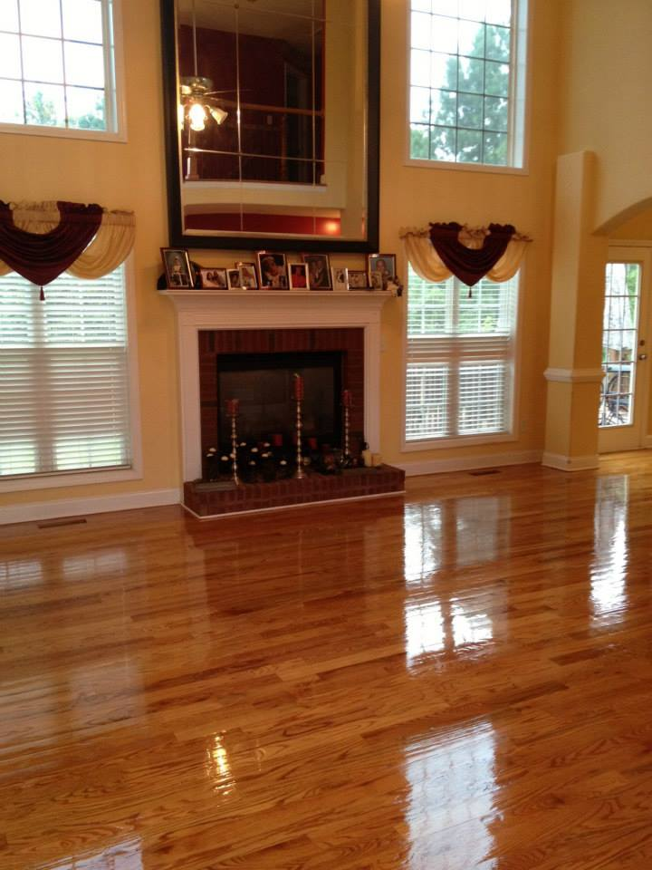 After our hardwood floor refinishing service