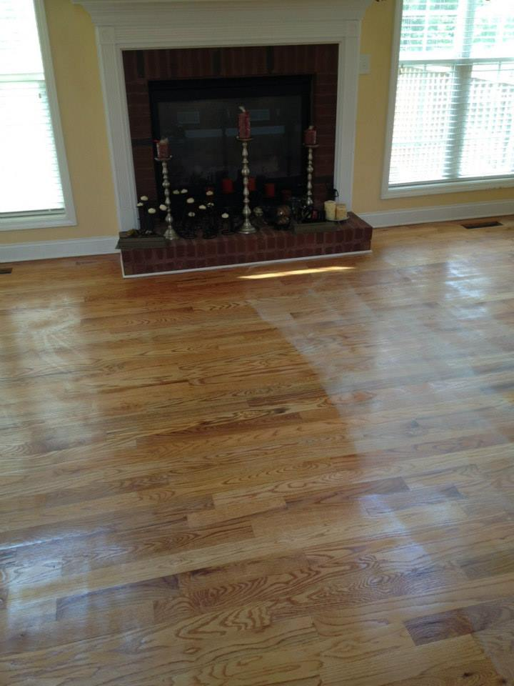 Before a good floor refinishing from Fabulous Floors