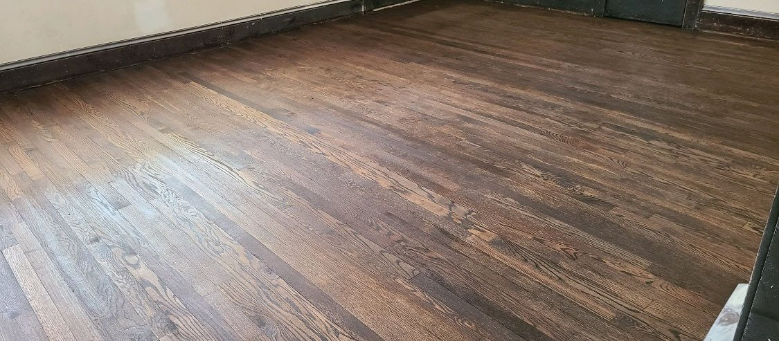 After a hardwood floor refinishing in the Denver area.
