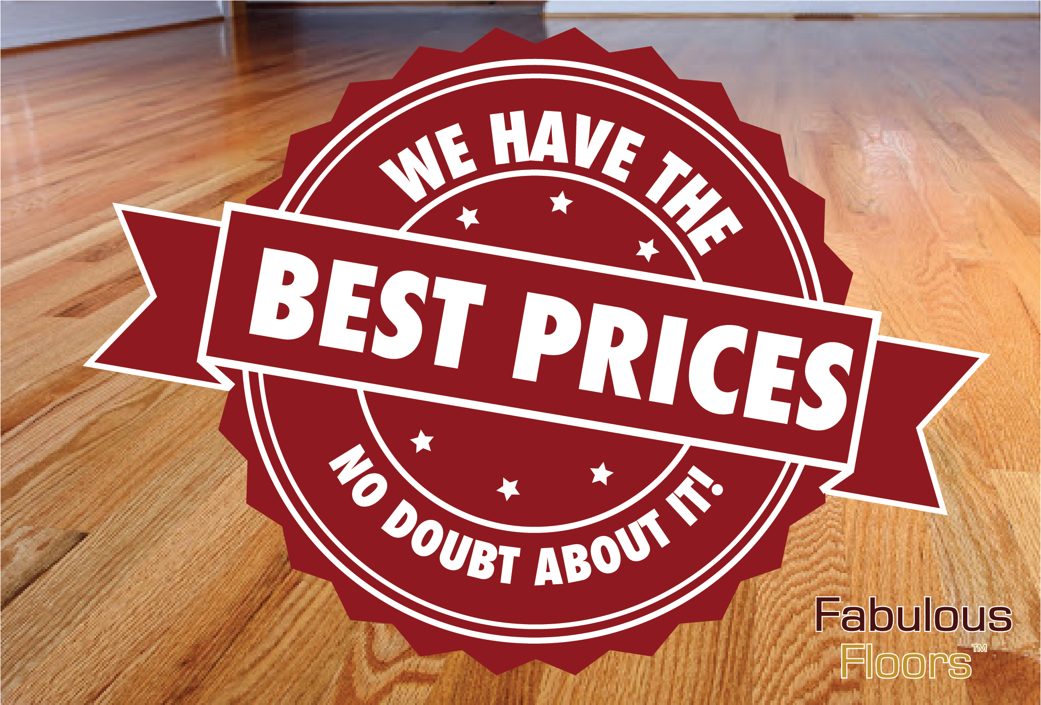 A graphic that says we have the best prices. no doubt about it